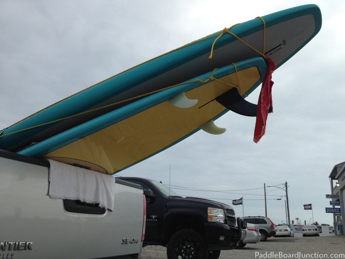 diy paddle board truck rack 2