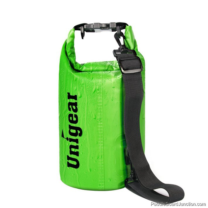 green dry bag for paddle boarding