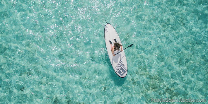 Paddle Boarding Girl from Above | paddleboardjunction.com