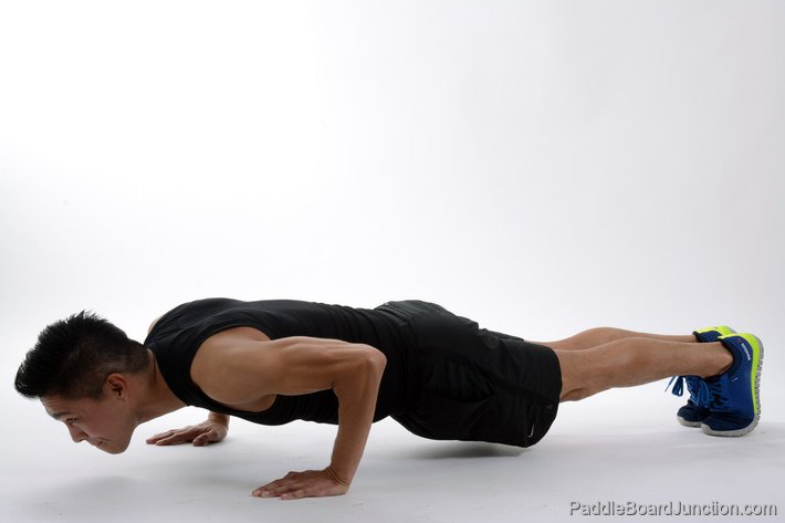 man doing pushup exercise