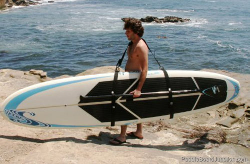 Using Paddle Board Straps to Carry