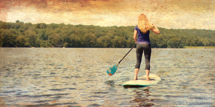 Peaceful Paddle Boarding on Lake