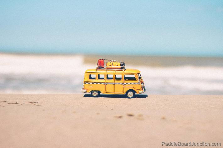 Toy Bus Van on Beach with Luggage Rack