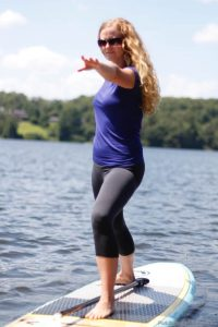 Warrior Pose - Paddle Board Yoga Sequences